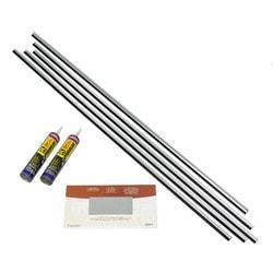 Fasade - Large Profile Backsplash Accessory Kit Brushed Aluminum