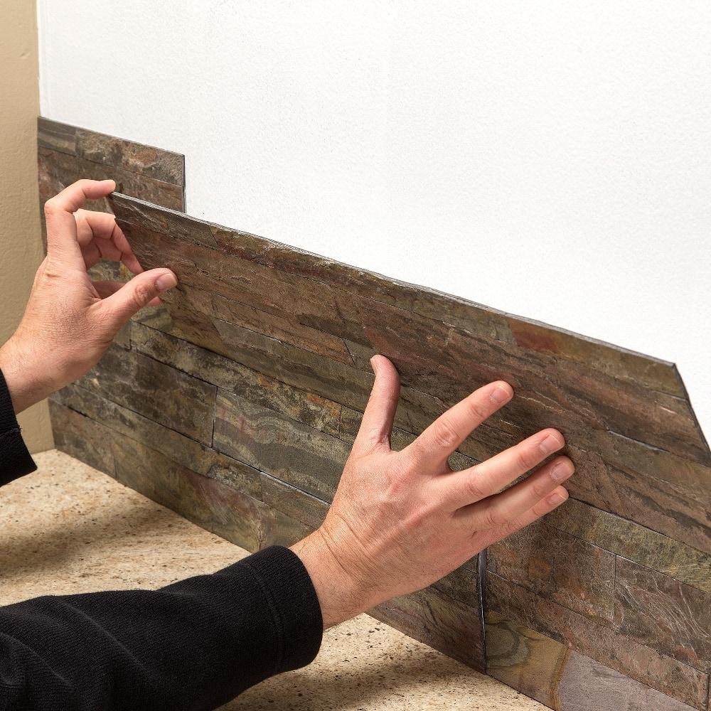 Aspect 6 x 24 inch autumn sandstone peel and stick stone backsplash - Aspect 6 X 24 Inch Autumn Sandstone Peel And Stick Stone Backsplash 61