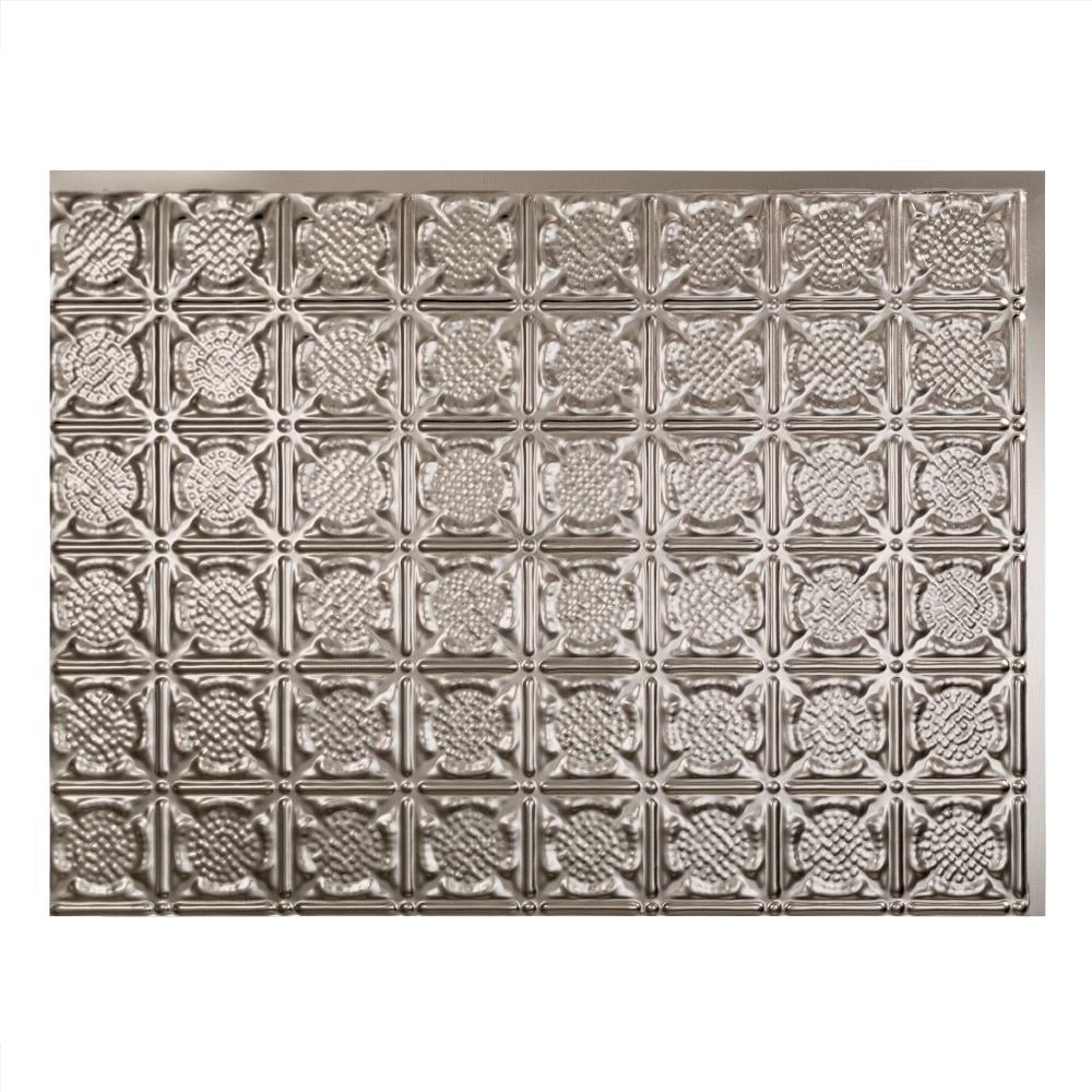 fasade decorative vinyl brushed nickel backsplash panel traditional 6