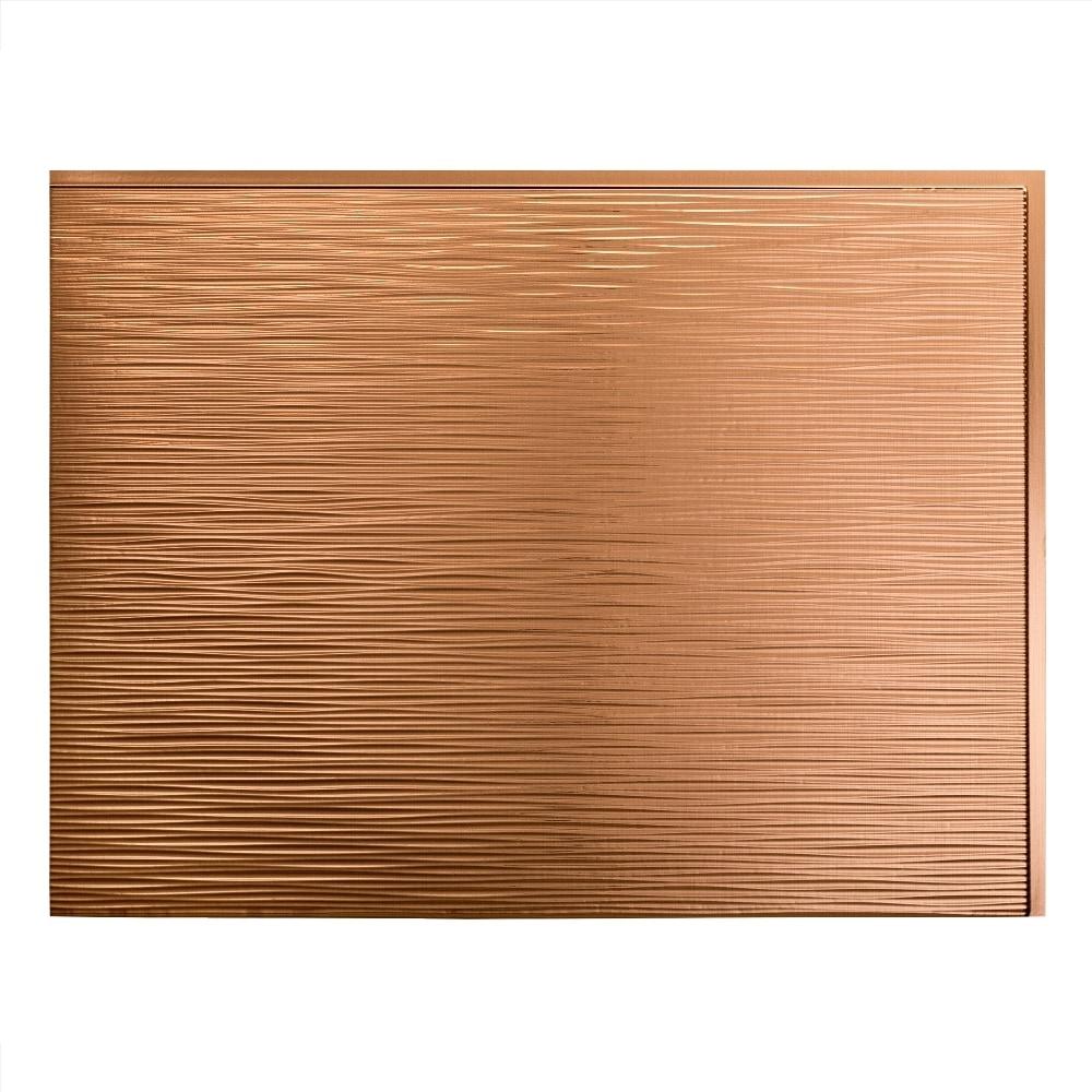fasade decorative vinyl cracked copper wall panel rib