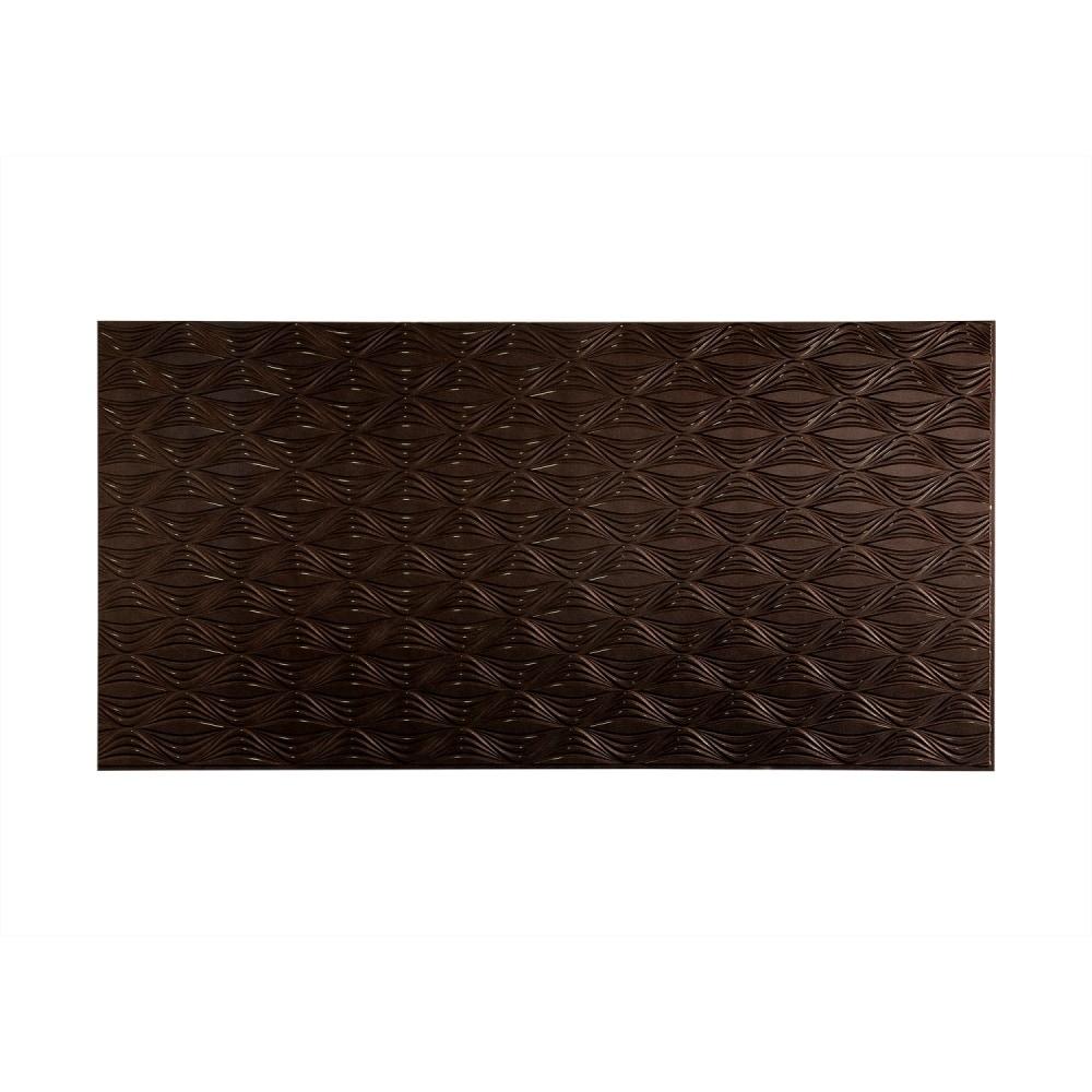 Vinyl Wall Paneling : Fasade decorative vinyl smoked pewter wall panel shallot