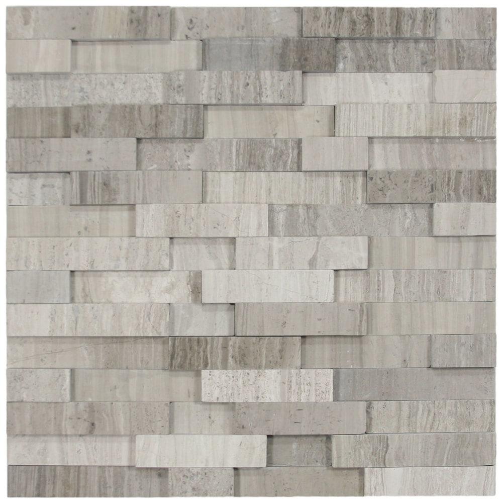 Cnk Tile Pebble Tiles 3d Polished Grey Brick Stone Tile
