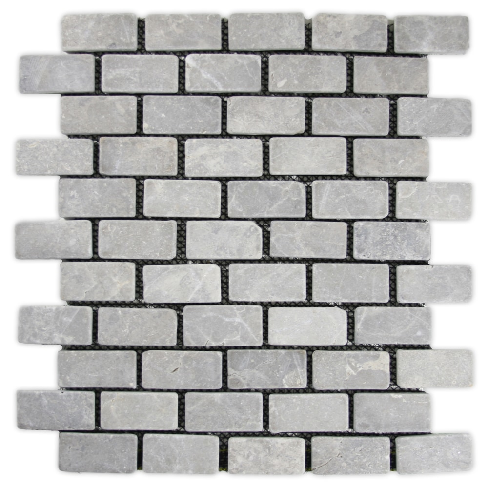 Cnk Tile Pebble Tiles Light Grey Mini Stone Subway Tile