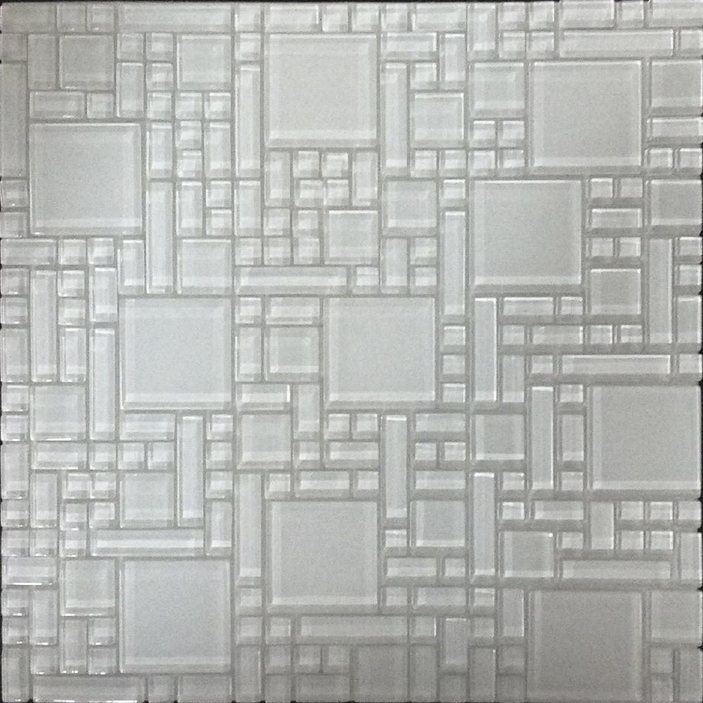 Newlinkz Glass Mosaic Random Sized Glass Peel Amp Stick