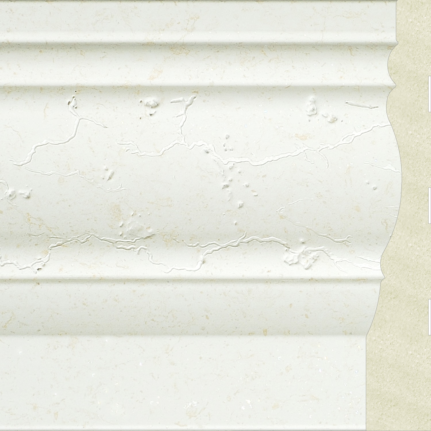 """Upscale Designs 4.5 in.x 0.7 in.x 72 in"""" Polystyrene Base Moulding - 60 LF (10 pieces)-#60101 Base Molding 0"""