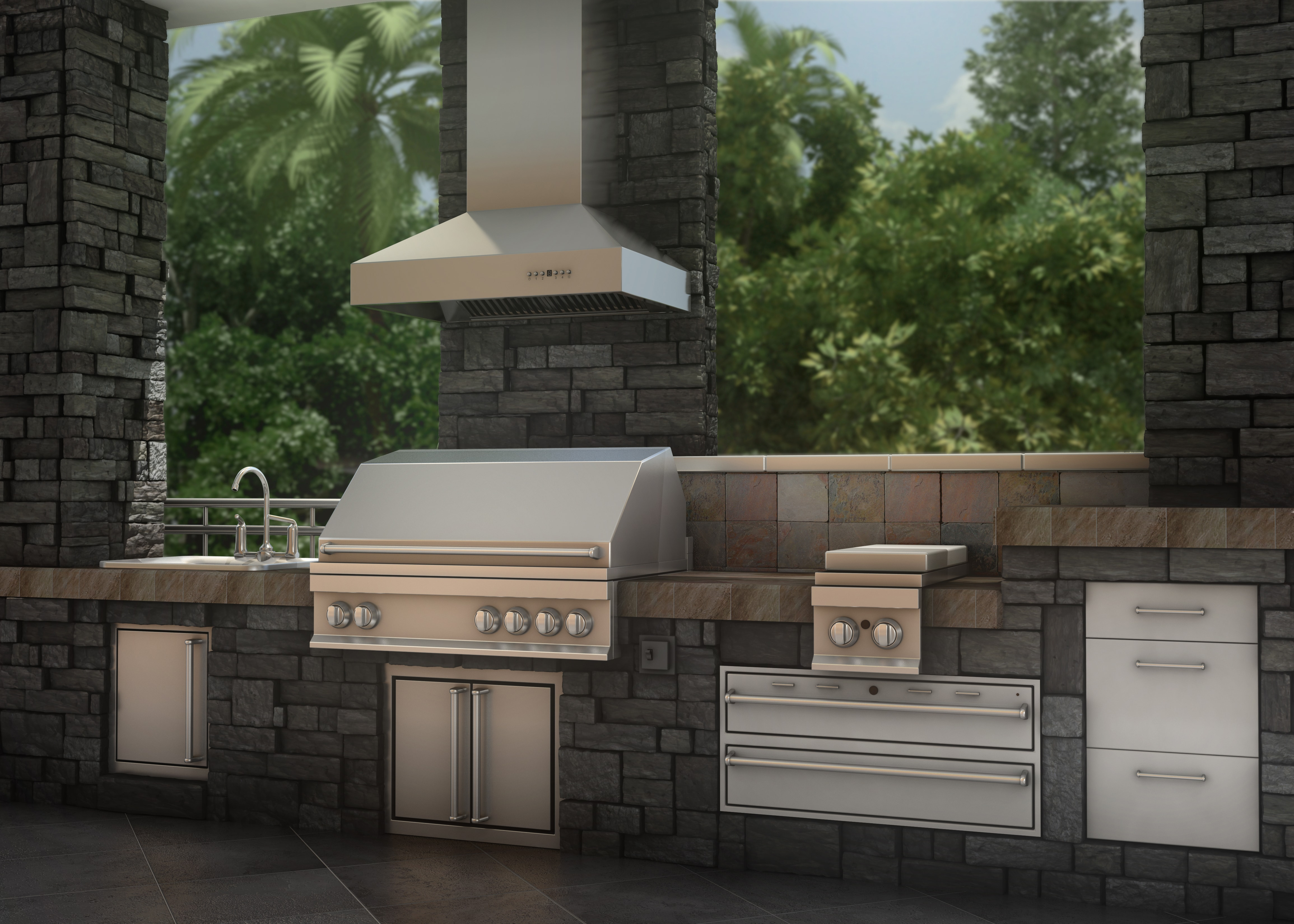outdoor custom steel of brushed hood handcrafted finish vent kitchen with stainless lovable