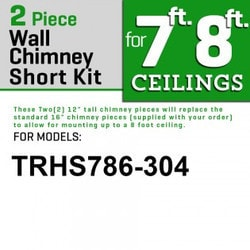"Zline Kitchen And Bath 2 Pc 12"" Short Chimney Pieces For 7' 8' Ceilings For 687 304"""