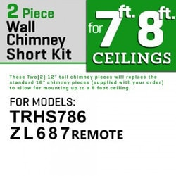 "Zline Kitchen And Bath 2 Pc 12"" Short Chimney Pieces For 7' 8' Ceilings For 687"""