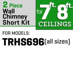 "Zline Kitchen And Bath 2 Pc 12"" Short Chimney Pieces For 7' 8' Ceilings For 696"""