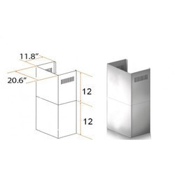 "Zline Kitchen And Bath 2 Pc 12"" Short Chimney Pieces For 7' 8' Ceilings For Kecom"