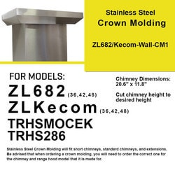 Zline Kitchen And Bath Crown Molding 1 For Wall Mount Range Hood Kecom