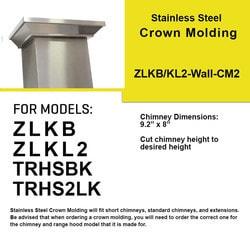 Zline Kitchen And Bath Crown Molding 2 For Wall Mount Range Hood Kb/kl2/kl3