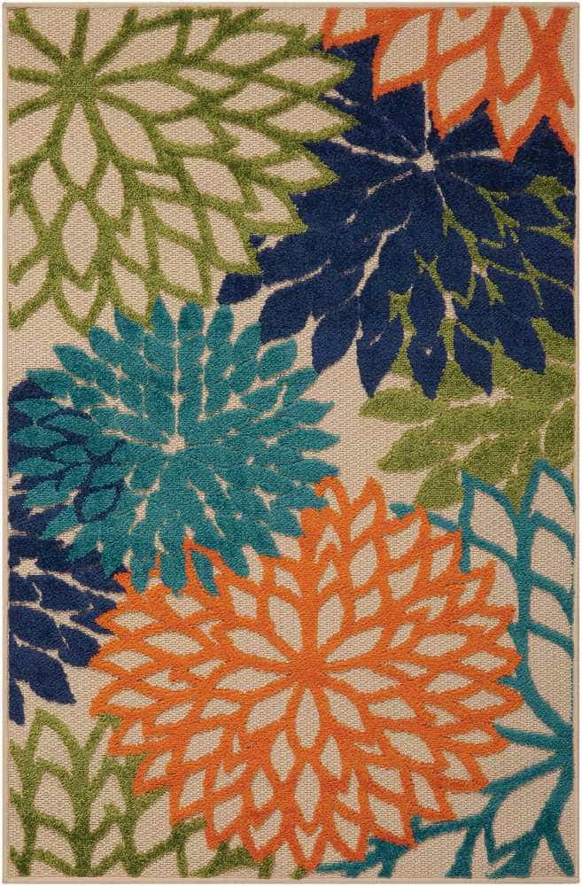 Nourison Nourison Aloha Multicolor Indoor Outdoor Rug
