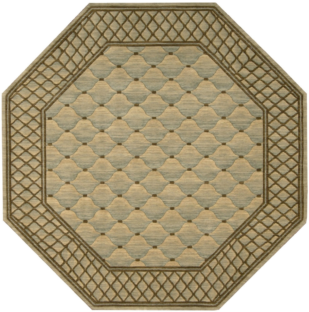 Nourison Nourison Vallencierre Light Green Area Rug Va26