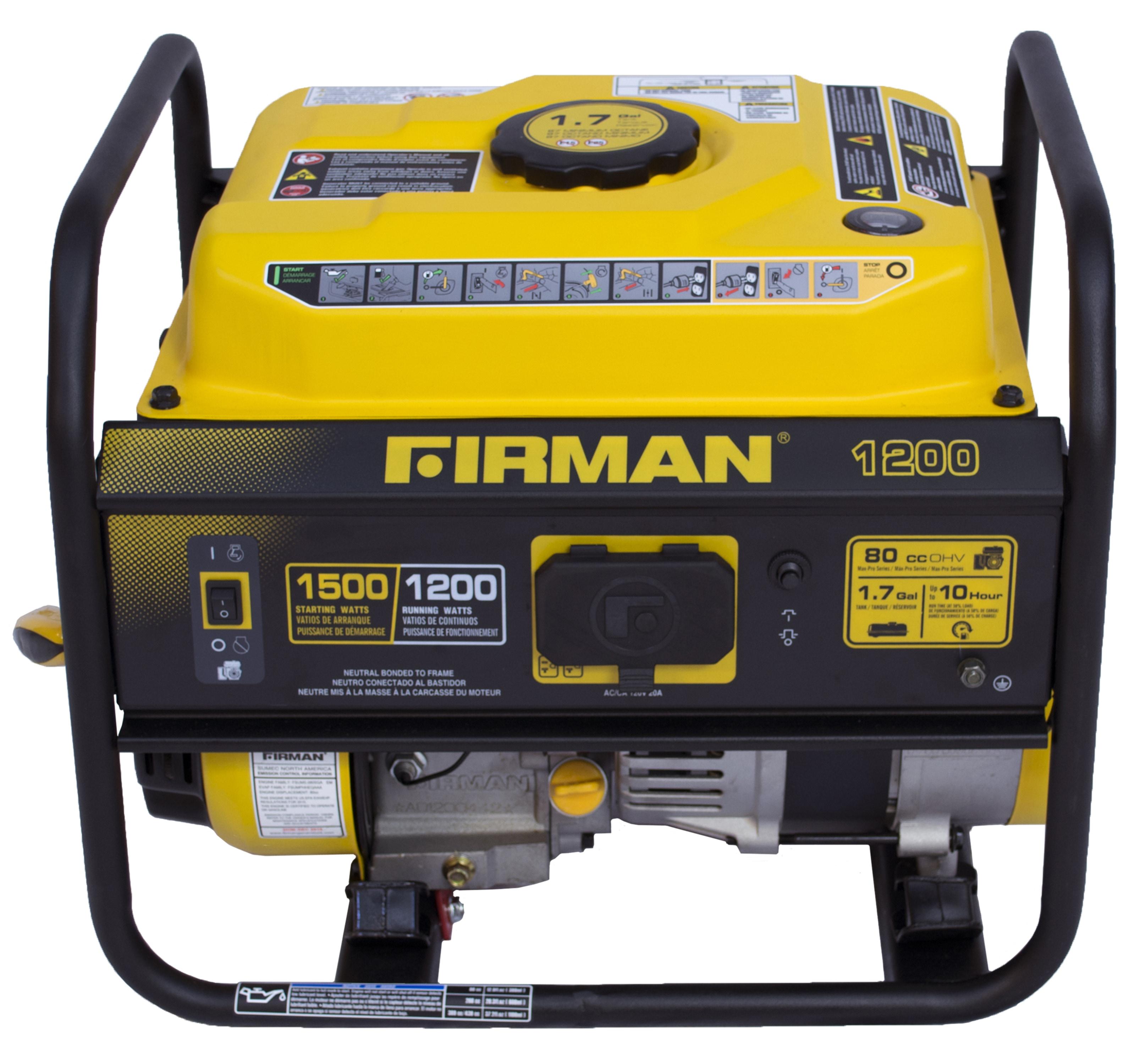 Firman Power Equipment Firman P Gas Powered 1200 1500 Watt