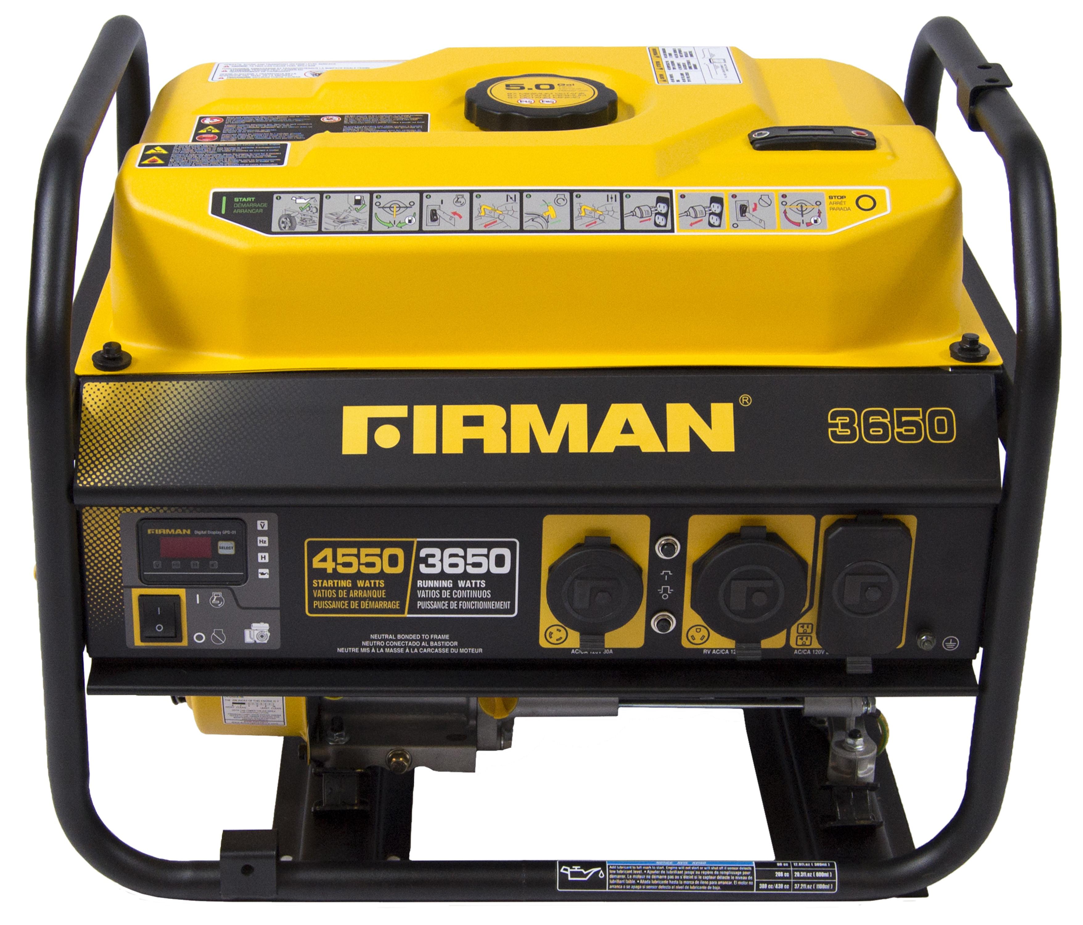 Firman Power Equipment Firman P Gas Powered 3650 4550 Watt