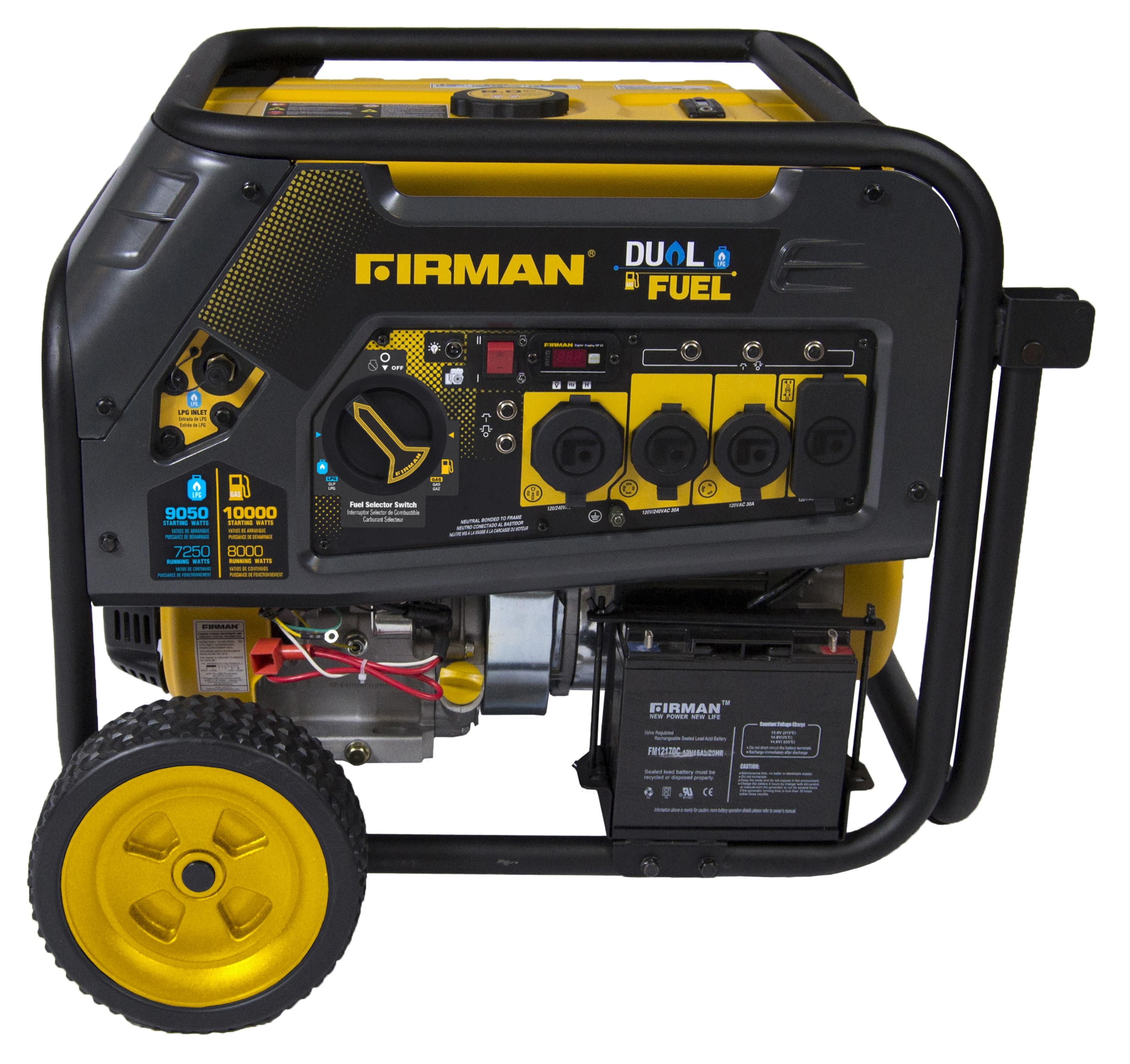 Firman Power Equipment Hybrid Series Dual Fuel Generator 8000