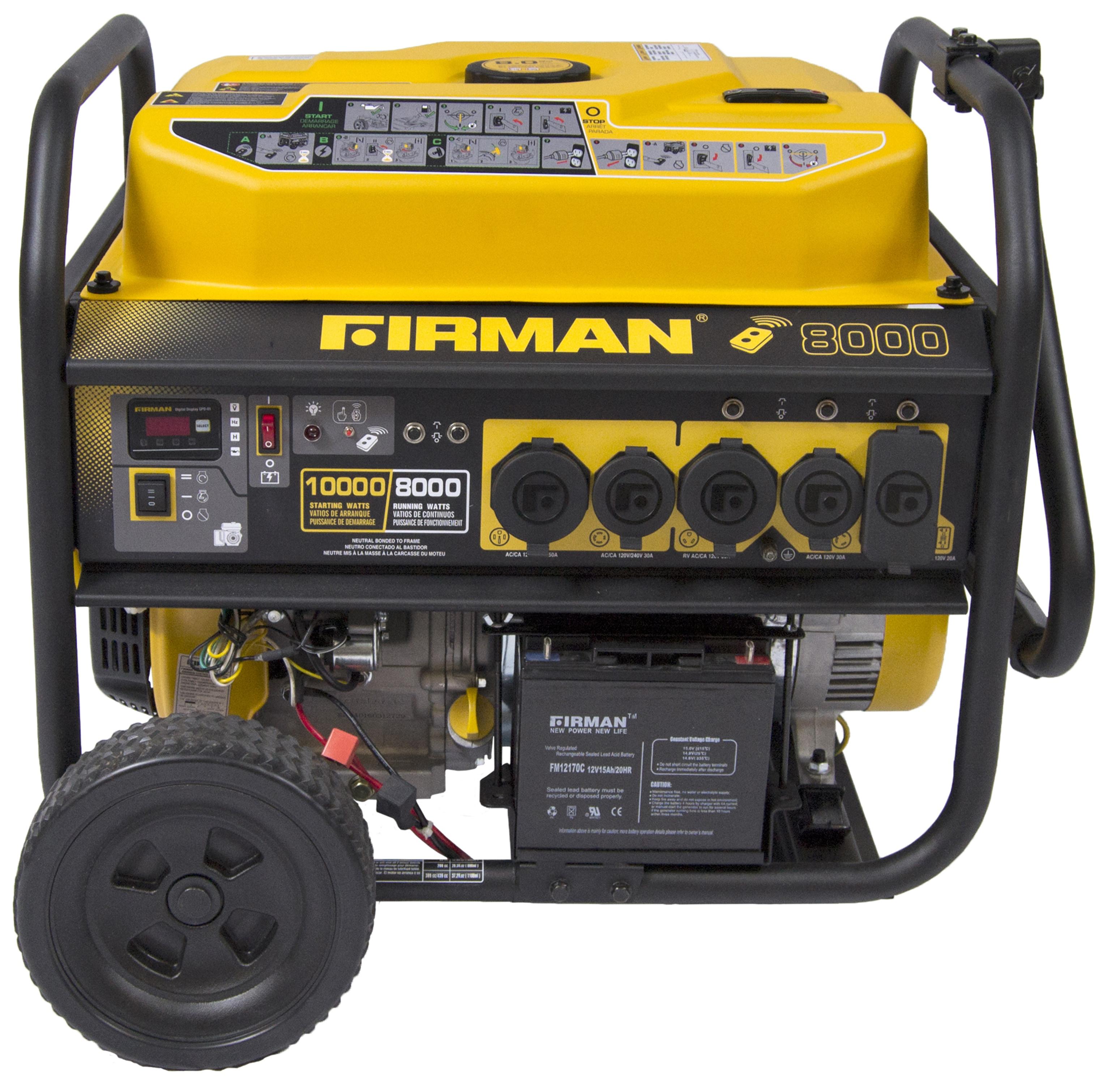 Firman Power Equipment Firman P 8000 Watt Portable Gas