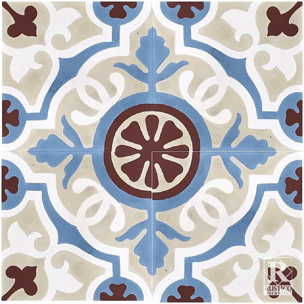 Rustico Tile and Stone Encaustic Cement Tile Amalia Mexican Tile ...