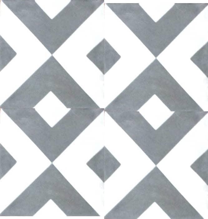 Rustico Tile And Stone Encaustic Cement Tile Diamond Geometric Custom Diamond Tile Pattern