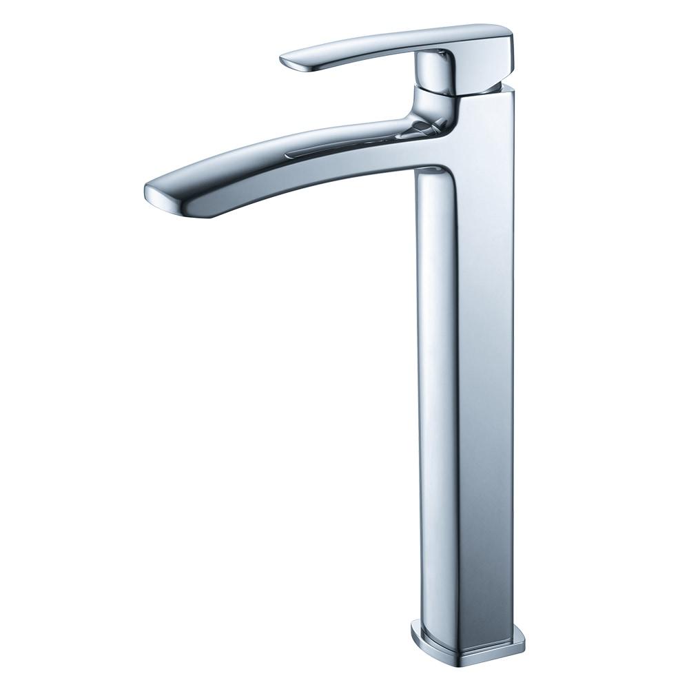 Single Hole Vessel Faucet Mount / Chrome Fiora Bathroom Vanity Faucet 0