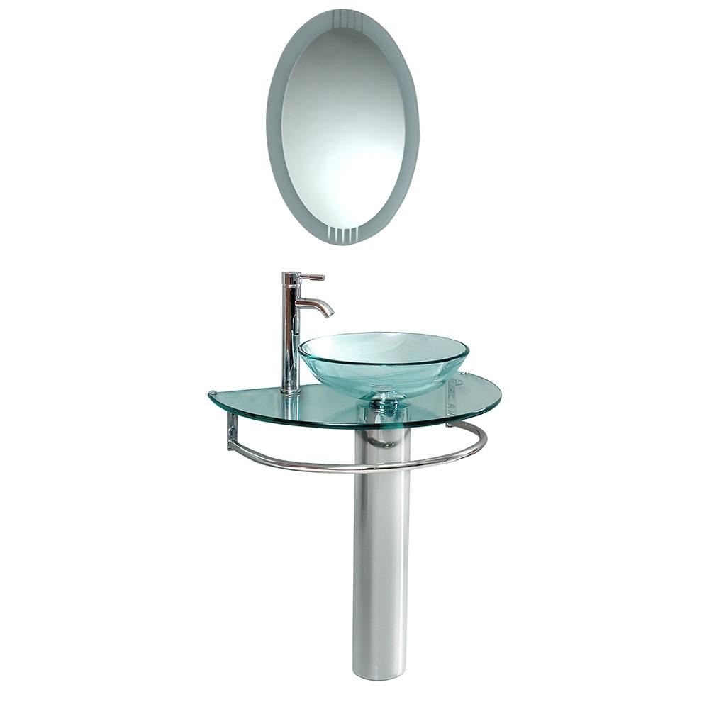 Fresca Attrazione Modern Glass Bathroom Vanity With Frosted Edge