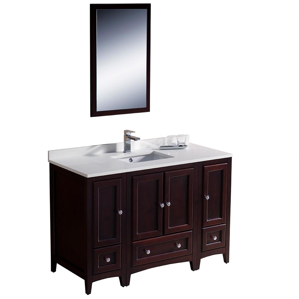 Fresca oxford 48 traditional bathroom vanity white mahogany 48 inch bathroom vanity right side sink