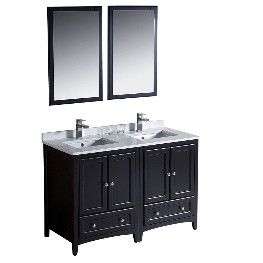 Fresca Oxford 48 Traditional Double Sink Bathroom Vanity White