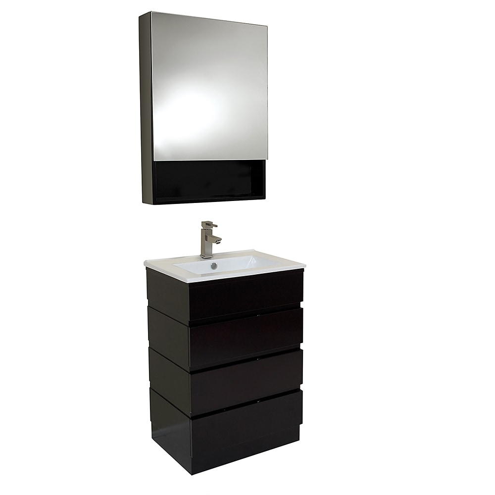 Fresca Amato Modern Bathroom Vanity with Medicine Cabinet White ...