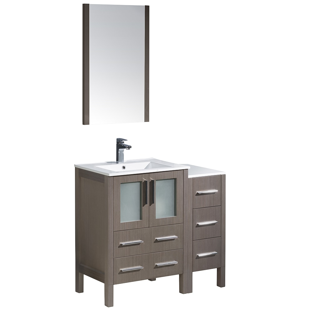 bathroom side cabinet fresca torino 36 quot modern bathroom vanity with side cabinet 11647