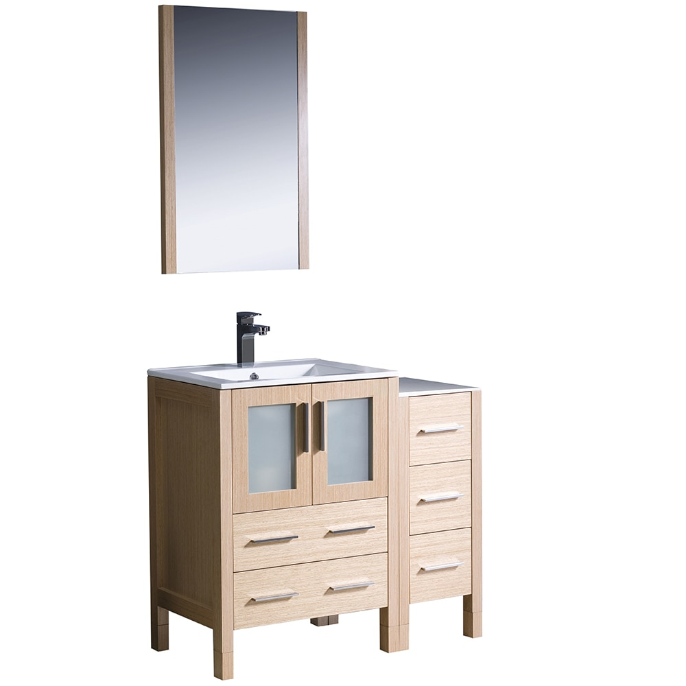 Fresca Torino 36 Modern Bathroom Vanity With Side Cabinet Integrated Si
