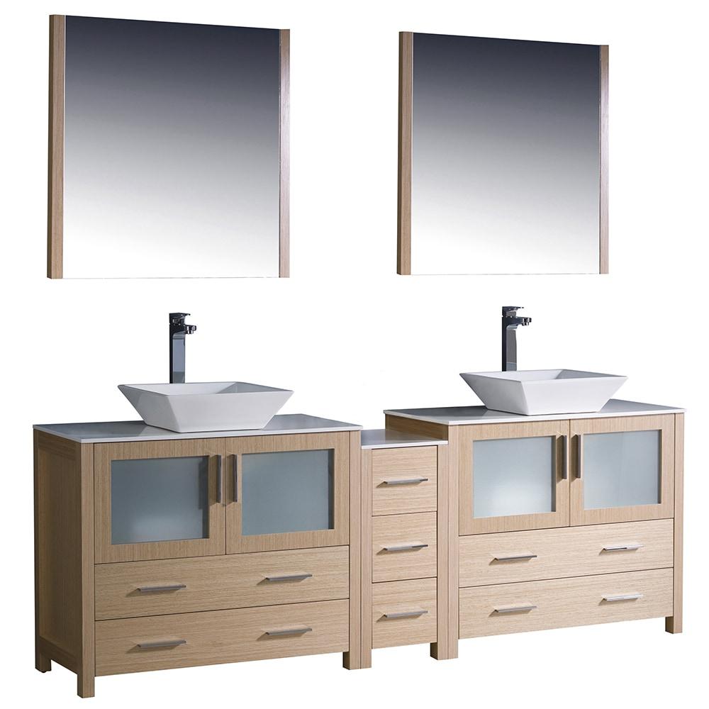 Fresca Torino 84 Modern Double Sink Bathroom Vanity With Side