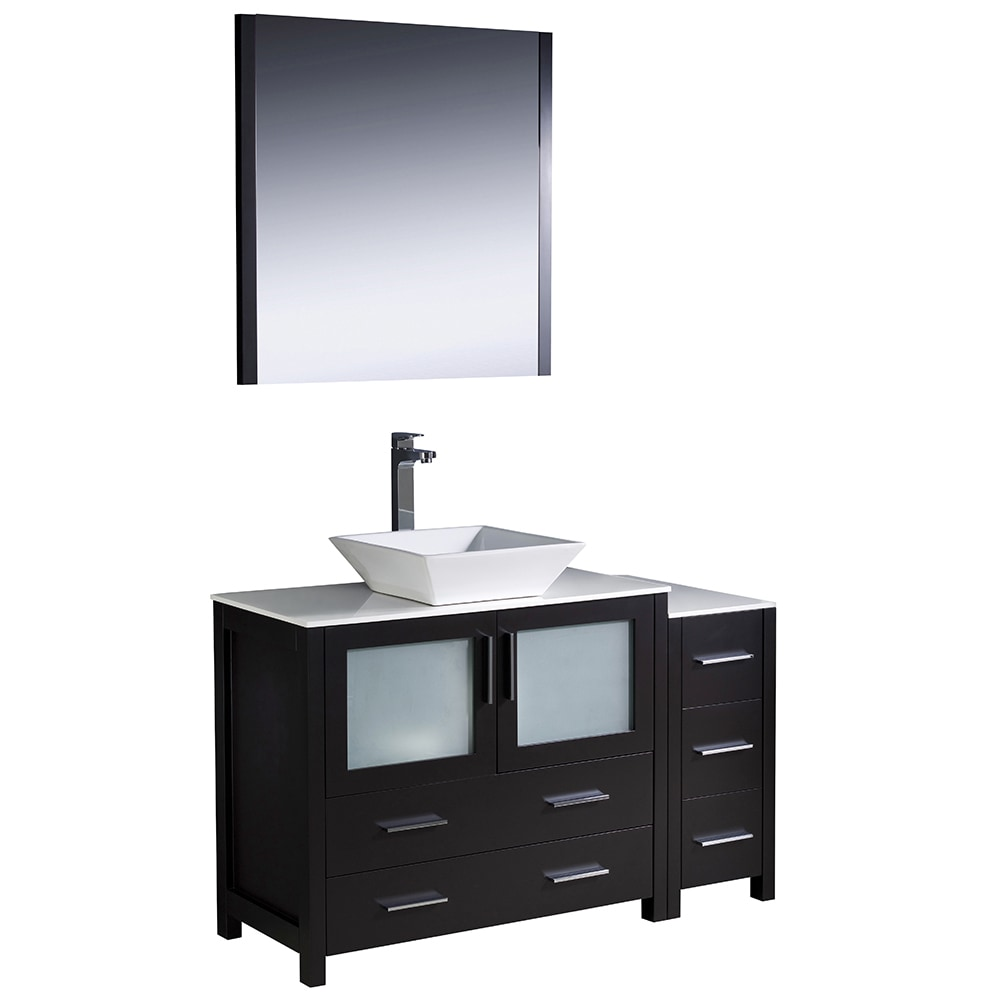 "Fresca Torino 48"" Modern Bathroom Vanity with Side Cabinet"