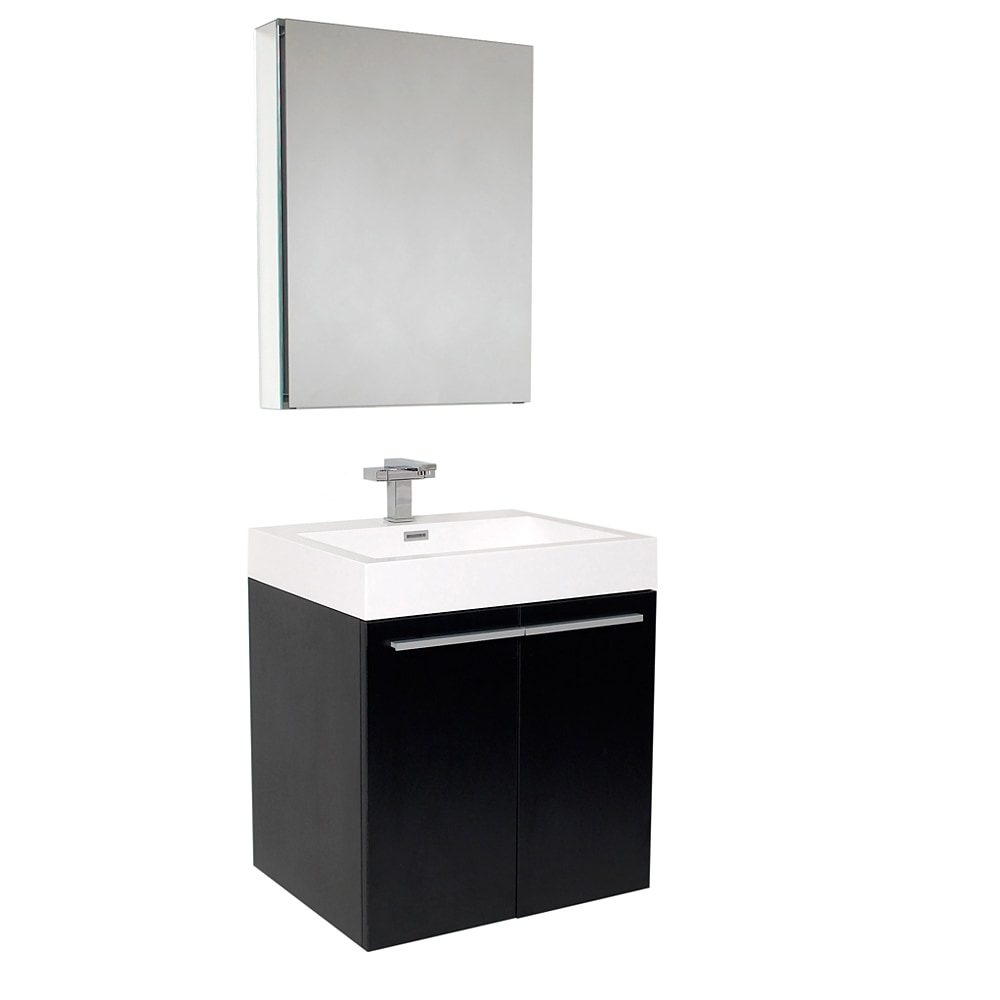black cabinet for bathroom fresca alto modern bathroom vanity with medicine cabinet 17390