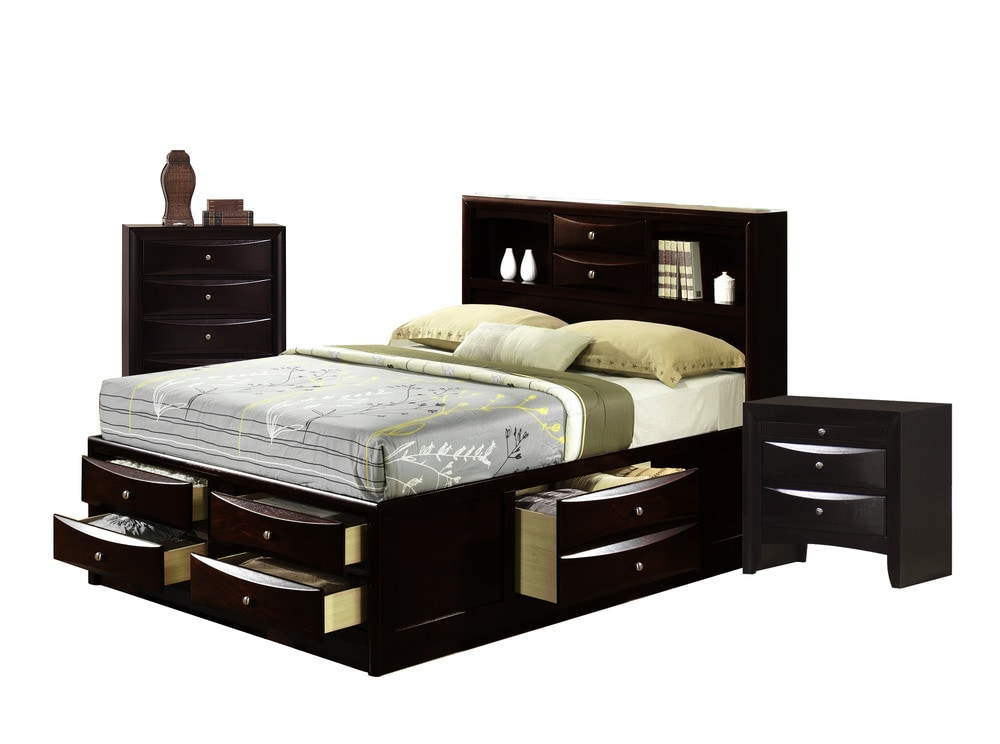 Picket House Furnishings Madison Bedroom Collection King Size Storage Bedroom Set 3 Pc