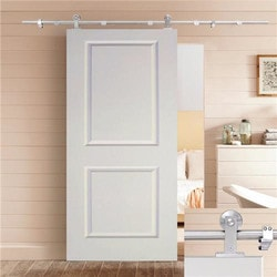 CALHOME Top Mount Sliding Track Hardware MDF 2 Panel Primed Barn Door 36  & 36 x 80 Interior Doors | BuildDirect®