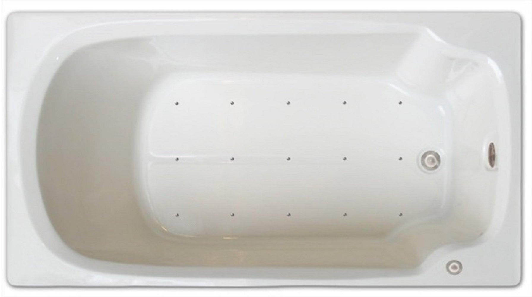 Drop-in Bathtub / 60x32x17.5 / high gloss white acrylic / Rectangle / LPI13-A-RD Pinnacle Bath - Air Bath 0
