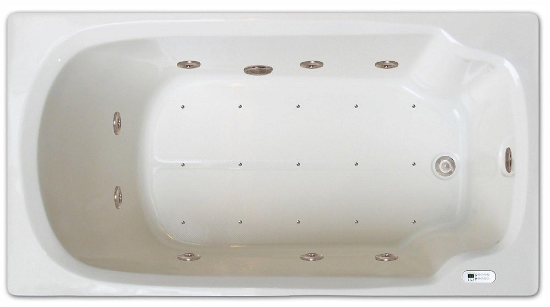 Drop-in Bathtub / 60x32x17.5 / high gloss white acrylic / Rectangle / LPI13-C-RD Pinnacle Bath - Air/Whirlpool Combo 0