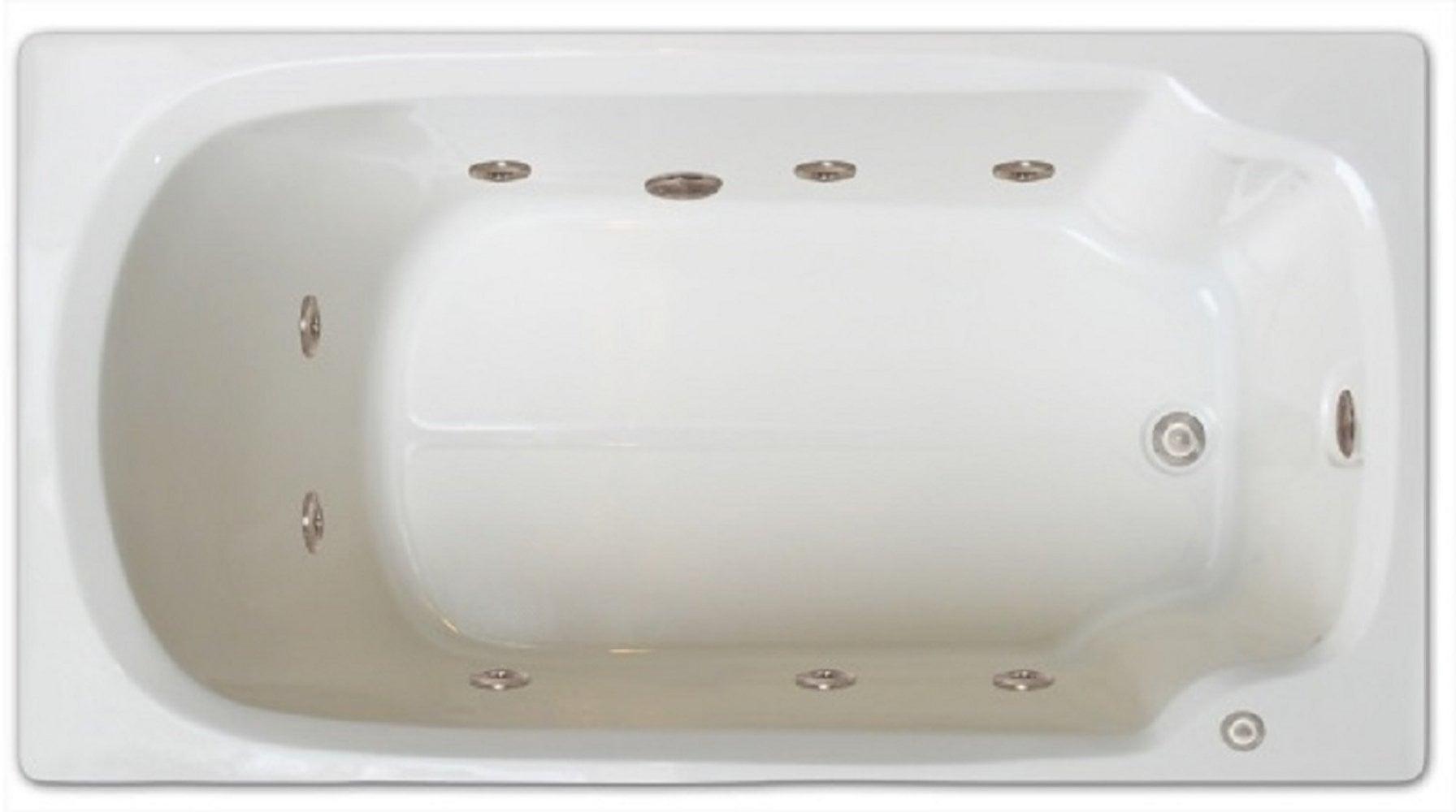 Drop-in Bathtub / 60x32x17.5 / high gloss white acrylic / Rectangle / LPI13-W-LD Pinnacle Bath - Whirlpool 0