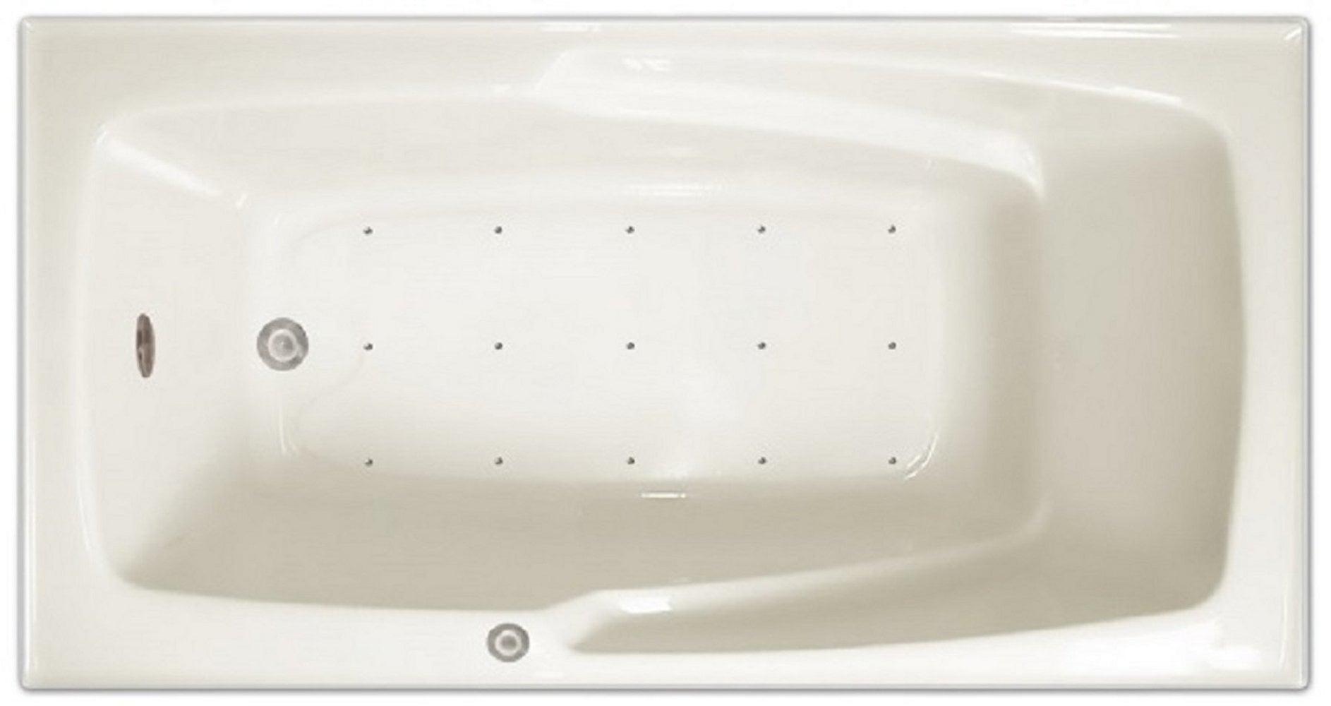 Drop-in Bathtub / 60x32x17.5 / high gloss white acrylic / Rectangle / LPI16-A-RD Pinnacle Bath - Air Bath 0