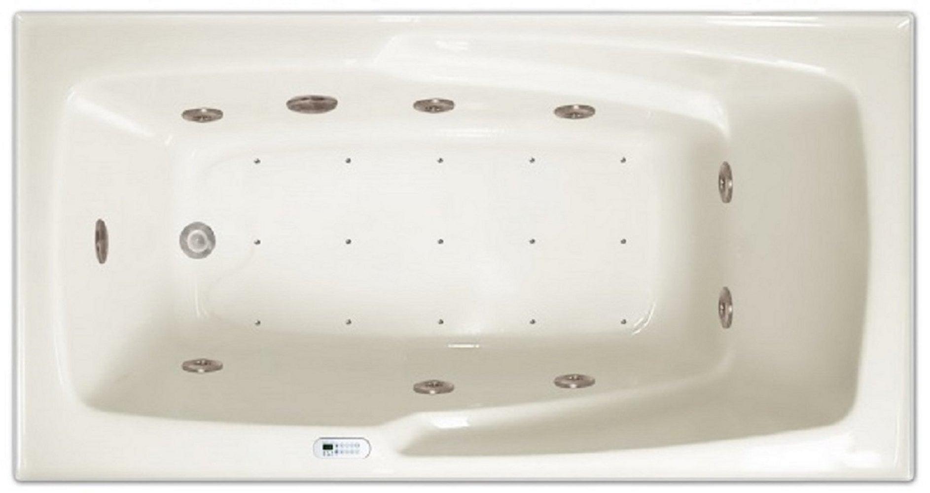 Drop-in Bathtub / 60x32x17.5 / high gloss white acrylic / Rectangle / LPI16-C-LD Pinnacle Bath - Air/Whirlpool Combo 0