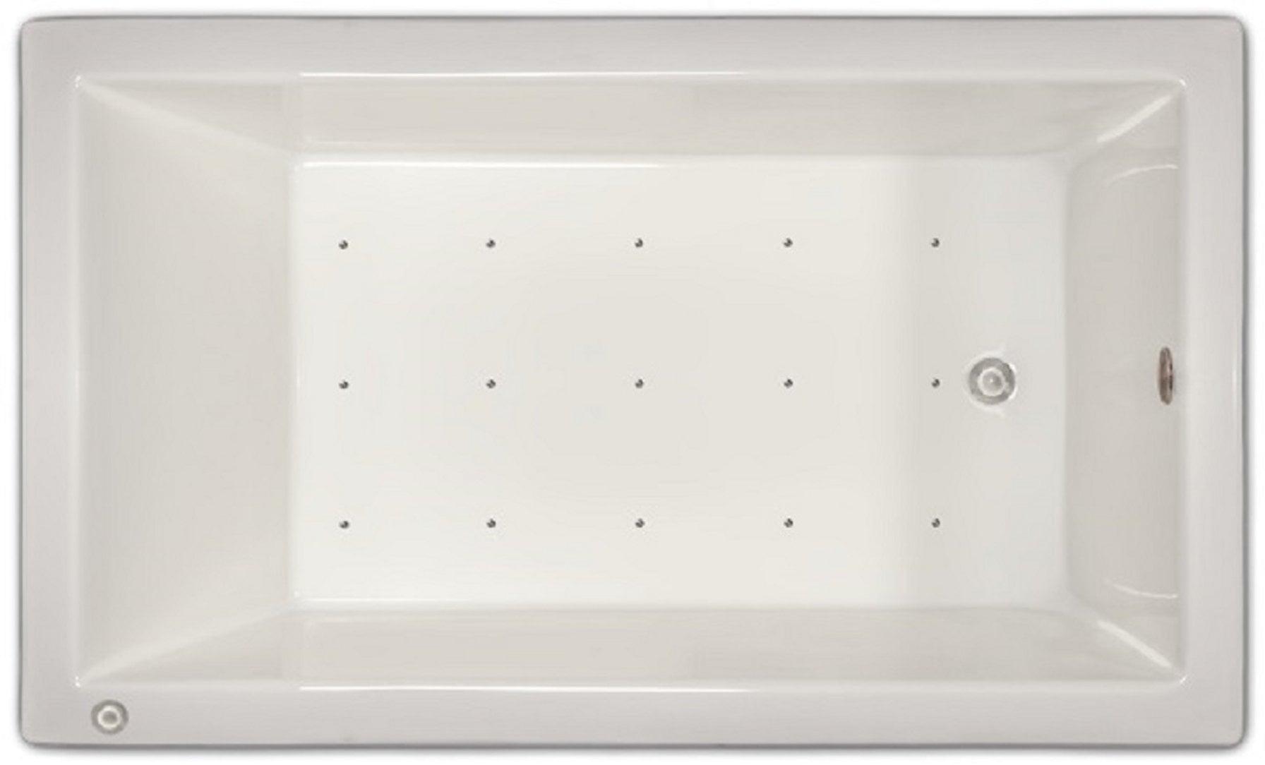 Drop-in Bathtub / 59.5x35.5x19 / high gloss white acrylic / Rectangle / LPI18-A-LD Pinnacle Bath - Air Bath 0