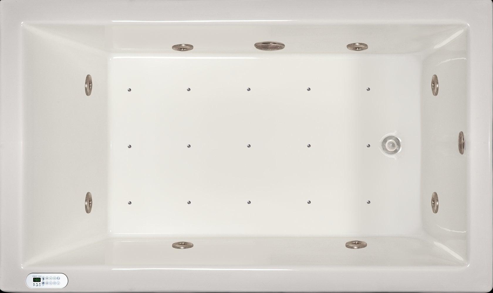 Drop-in Bathtub / 59.5x35.5x19 / high gloss white acrylic / Rectangle / LPI18-C-RD Pinnacle Bath - Air/Whirlpool Combo 0