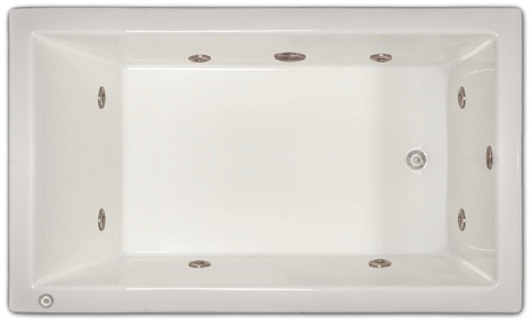 Drop-in Bathtub / 59.5x35.5x19 / high gloss white acrylic / Rectangle / LPI18-W-LD Pinnacle Bath - Whirlpool 0
