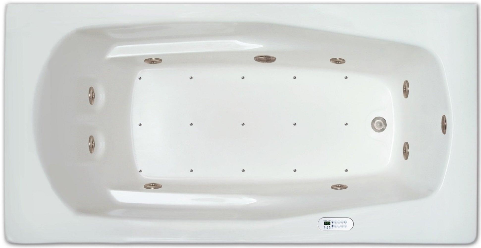 Drop-in Bathtub / 66x32x18.5 / high gloss white acrylic / Rectangle / LPI19-C-LD Pinnacle Bath - Air/Whirlpool Combo 0