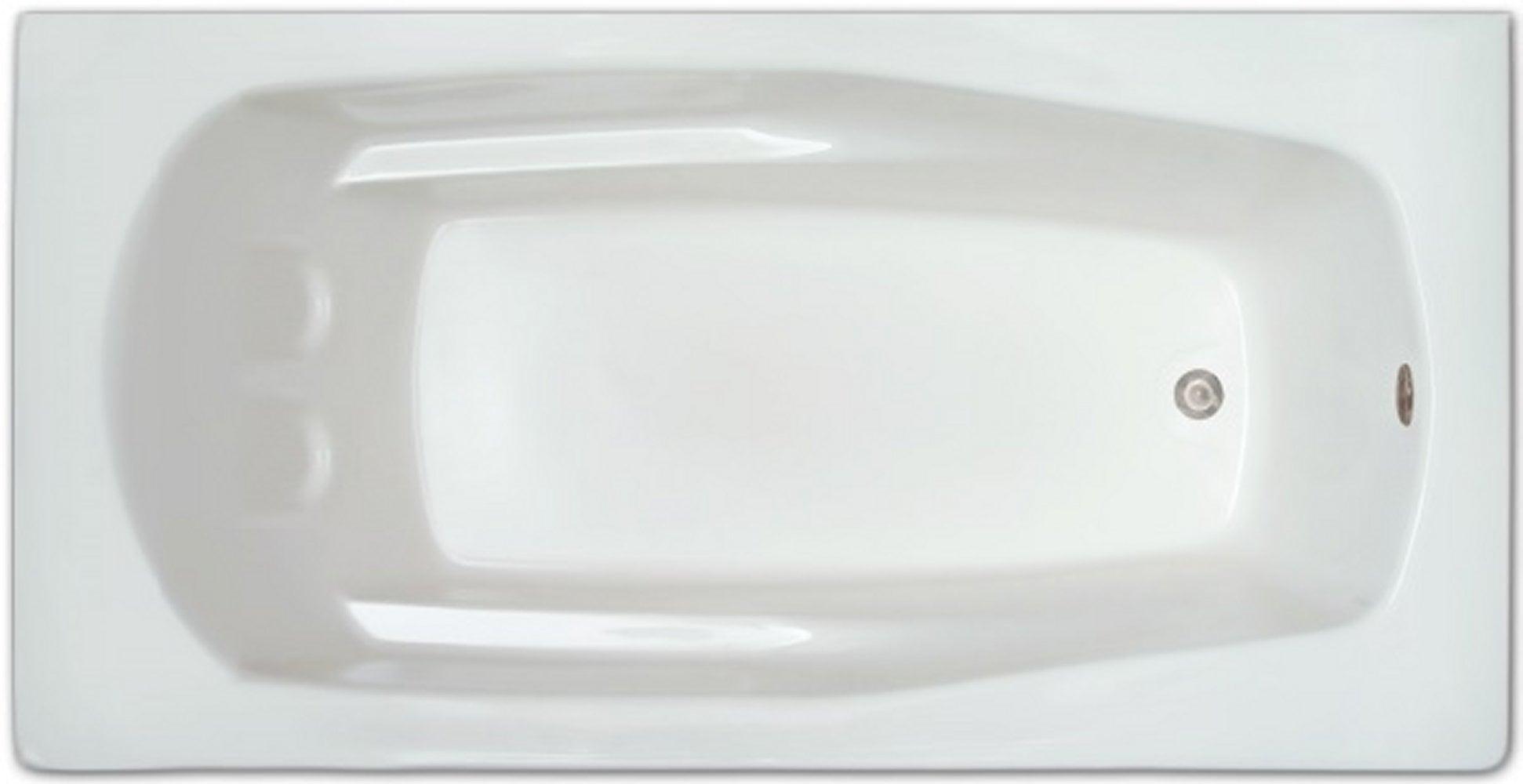 Drop-in Bathtub / 66x32x18.5 / high gloss white acrylic / Rectangle / LPI19-S Pinnacle Bath - Soaker 0