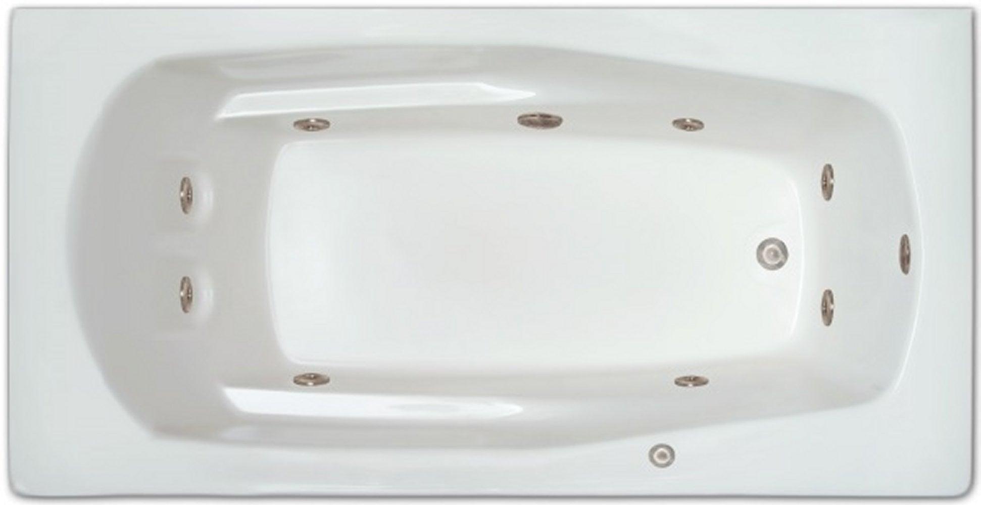 Drop-in Bathtub / 66x32x18.5 / high gloss white acrylic / Rectangle / LPI19-W-LD Pinnacle Bath - Whirlpool 0