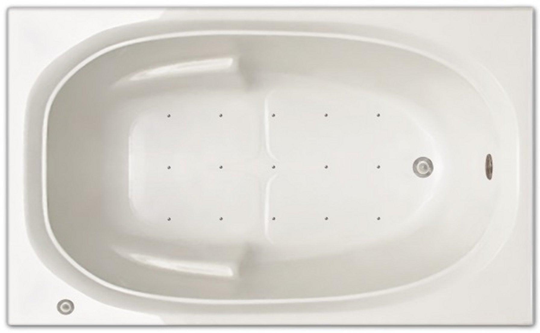 Drop-in Bathtub / 60x36x19 / high gloss white acrylic / Rectangle / LPI221-A-RD Pinnacle Bath - Air Bath 0