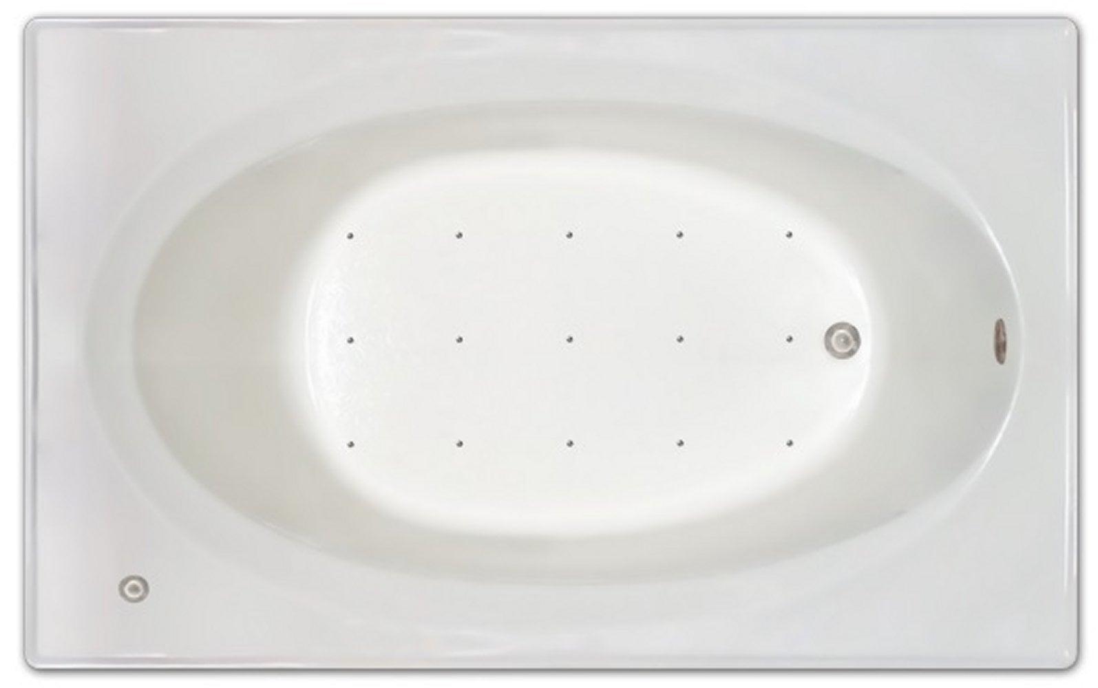 Drop-in Bathtub / 72x42x19 / high gloss white acrylic / Rectangle / LPI225-A-RD Pinnacle Bath - Air Bath 0