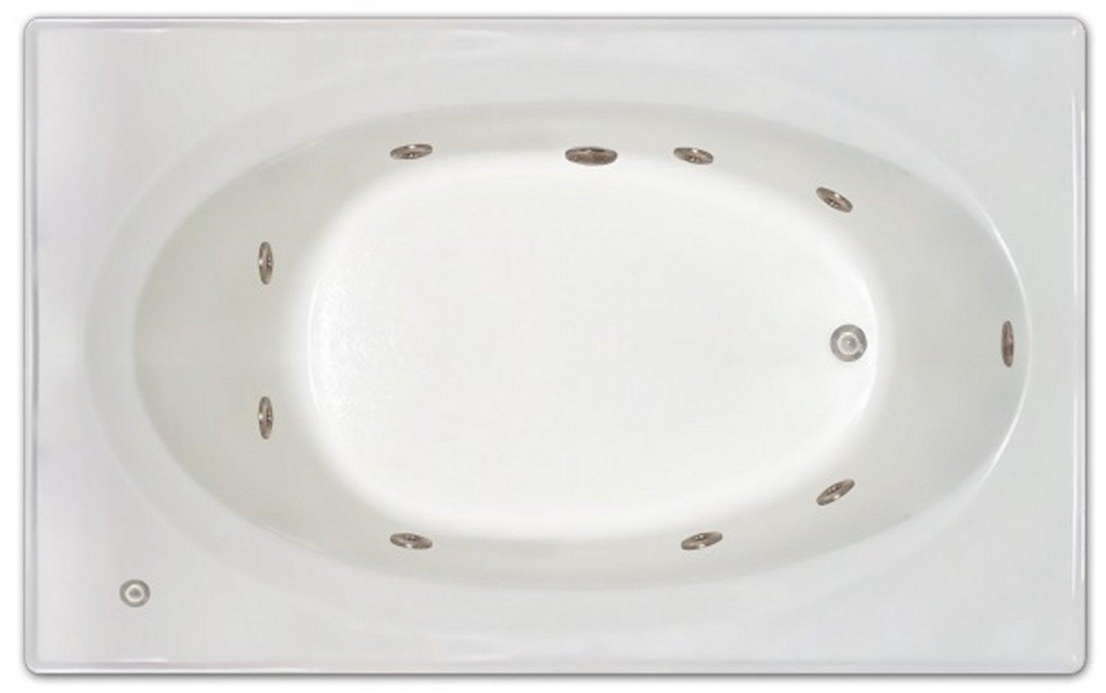 Drop-in Bathtub / 72x42x19 / high gloss white acrylic / Rectangle / LPI225-W-LD Pinnacle Bath - Whirlpool 0